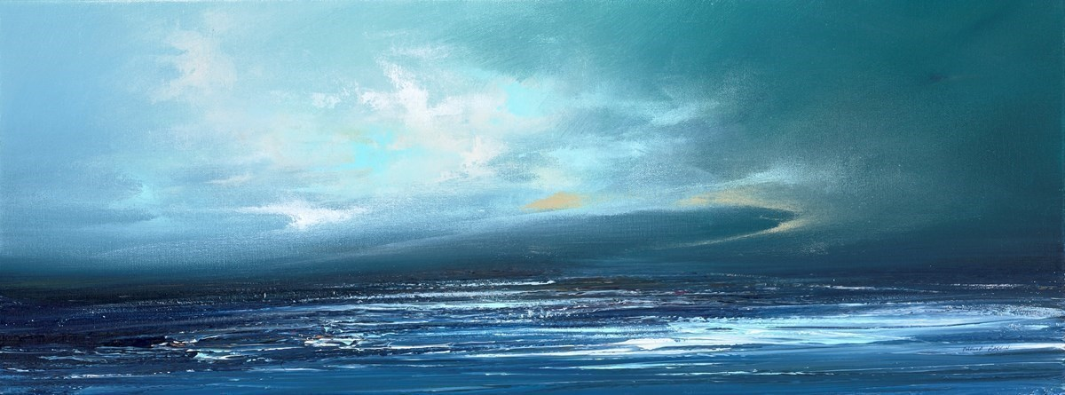 Calm Waters III by Philip Raskin -  sized 32x12 inches. Available from Whitewall Galleries